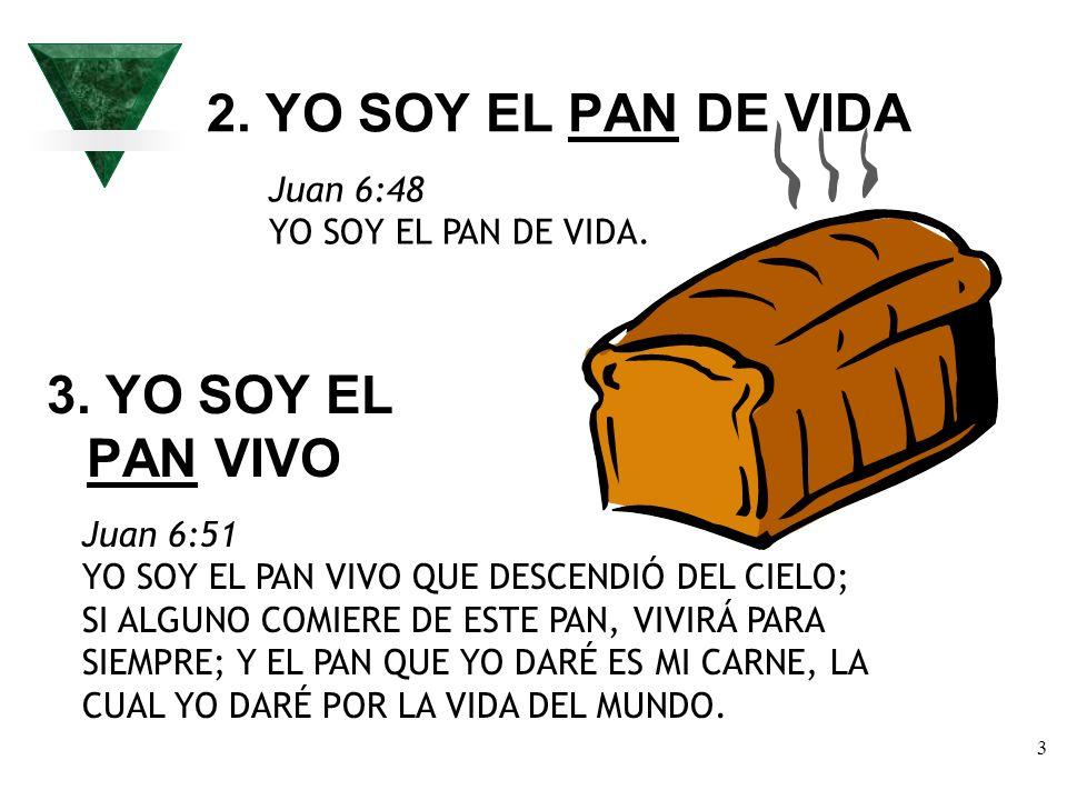 2. YO SOY EL PAN DE VIDA 3. YO SOY EL PAN VIVO