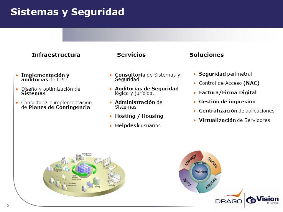 Sistemas y Seguridad Infraestructura Servicios Soluciones