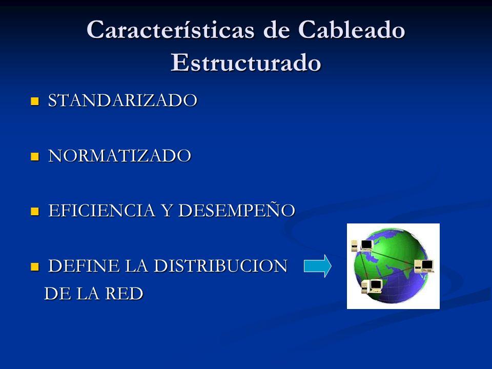 Características de Cableado Estructurado