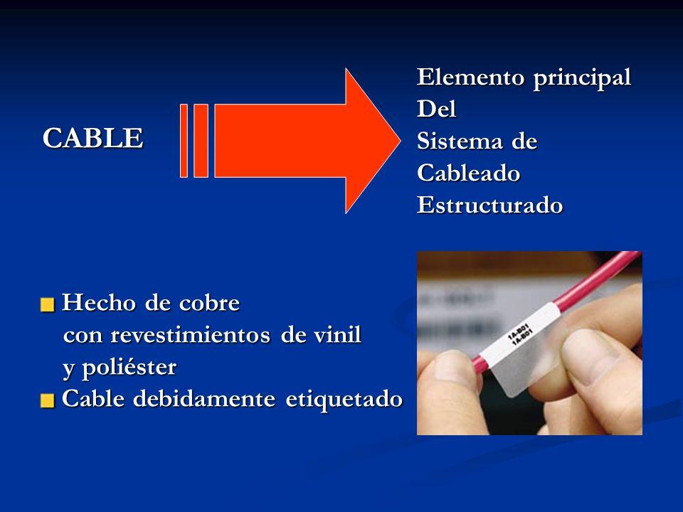 CABLE Elemento principal Del Sistema de Cableado Estructurado