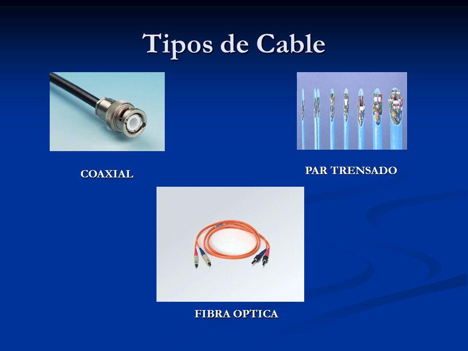 Tipos de Cable PAR TRENSADO COAXIAL FIBRA OPTICA
