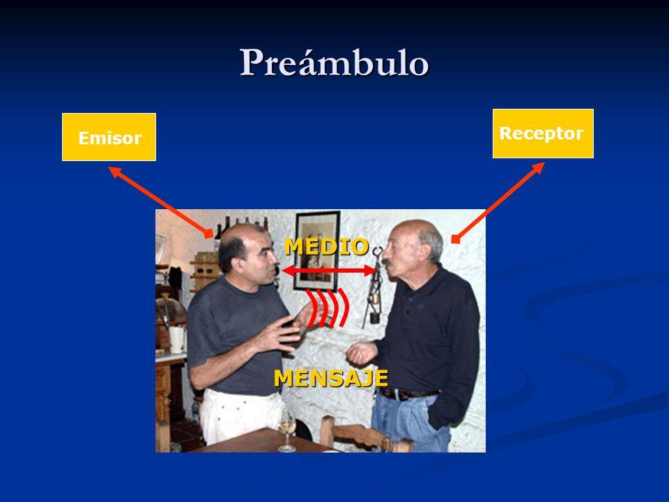 Preámbulo Receptor Emisor MEDIO MENSAJE