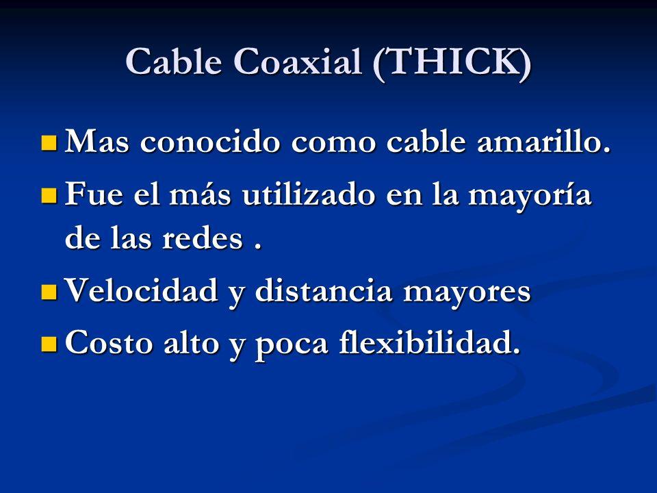 Cable Coaxial (THICK) Mas conocido como cable amarillo.