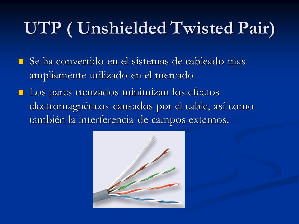 UTP ( Unshielded Twisted Pair)
