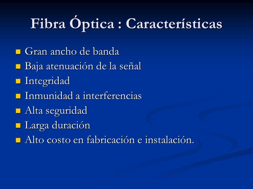 Fibra Óptica : Características