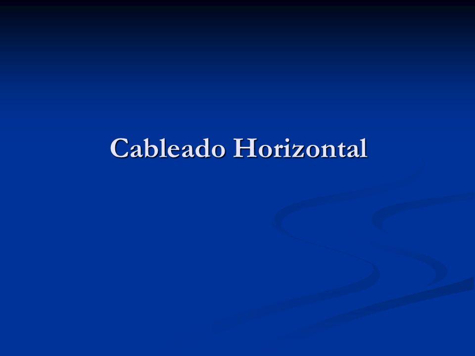 Cableado Horizontal
