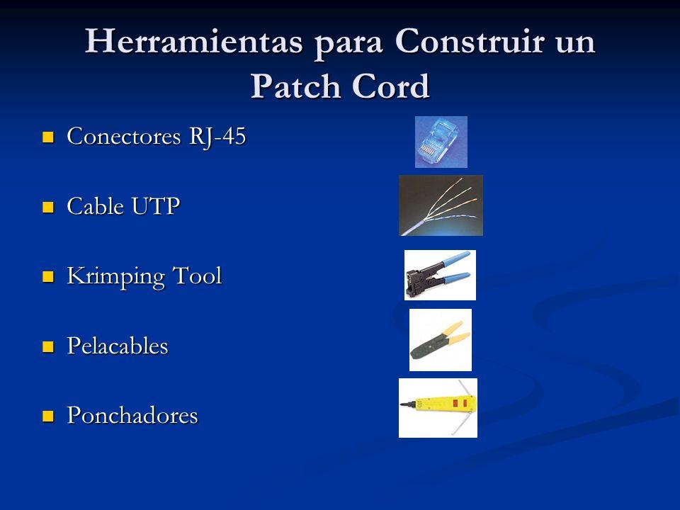 Herramientas para Construir un Patch Cord
