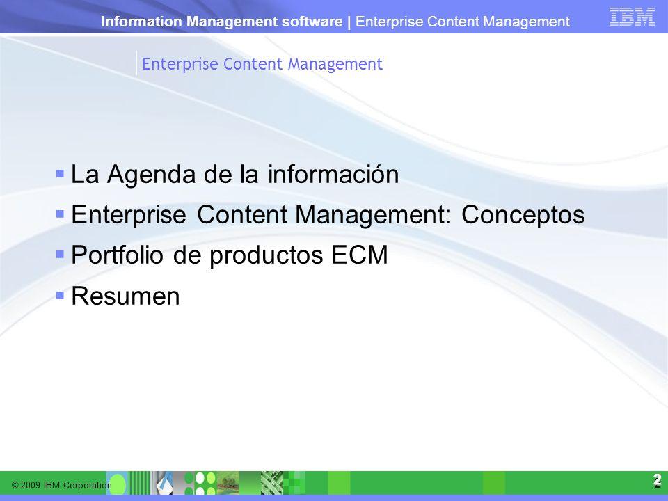 La Agenda de la información Enterprise Content Management: Conceptos