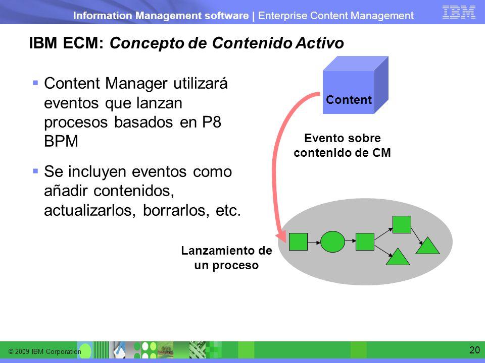 Evento sobre contenido de CM Lanzamiento de un proceso