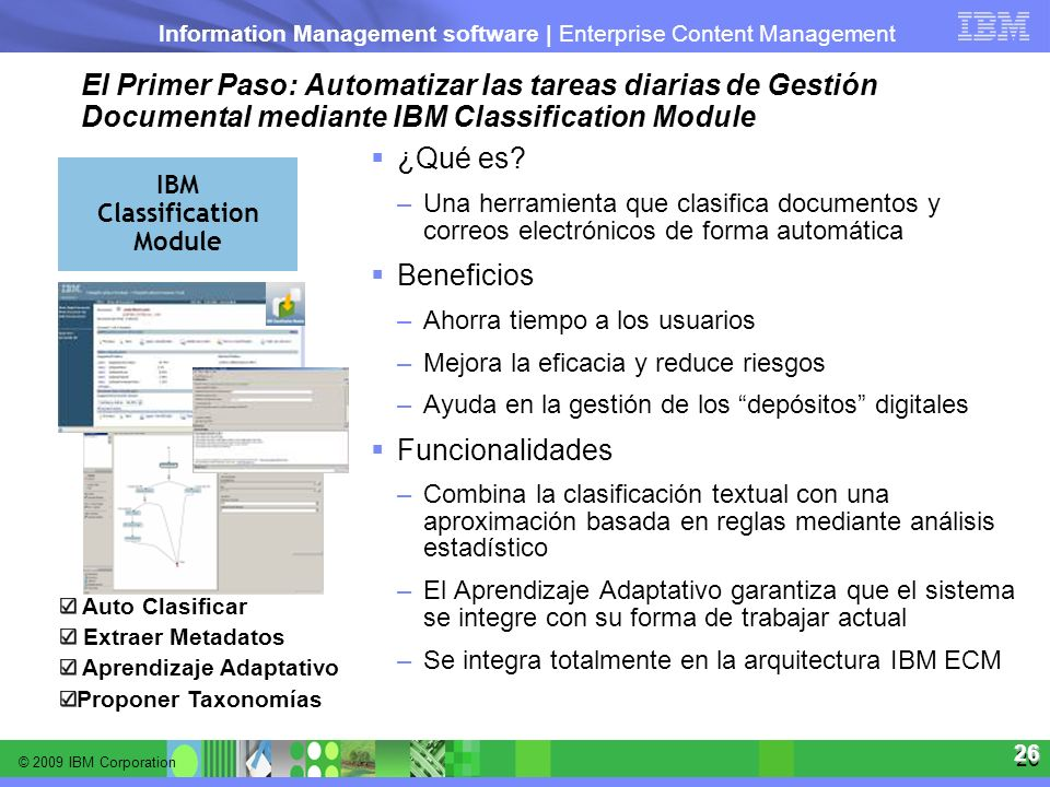 El Primer Paso: Automatizar las tareas diarias de Gestión Documental mediante IBM Classification Module
