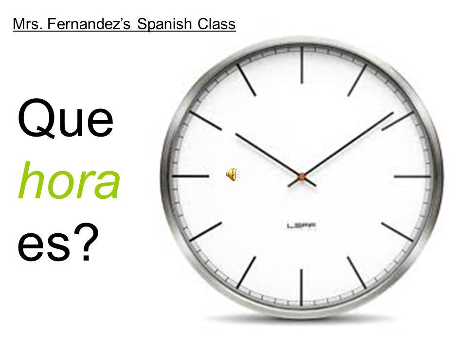 Mrs. Fernandez's Spanish Class