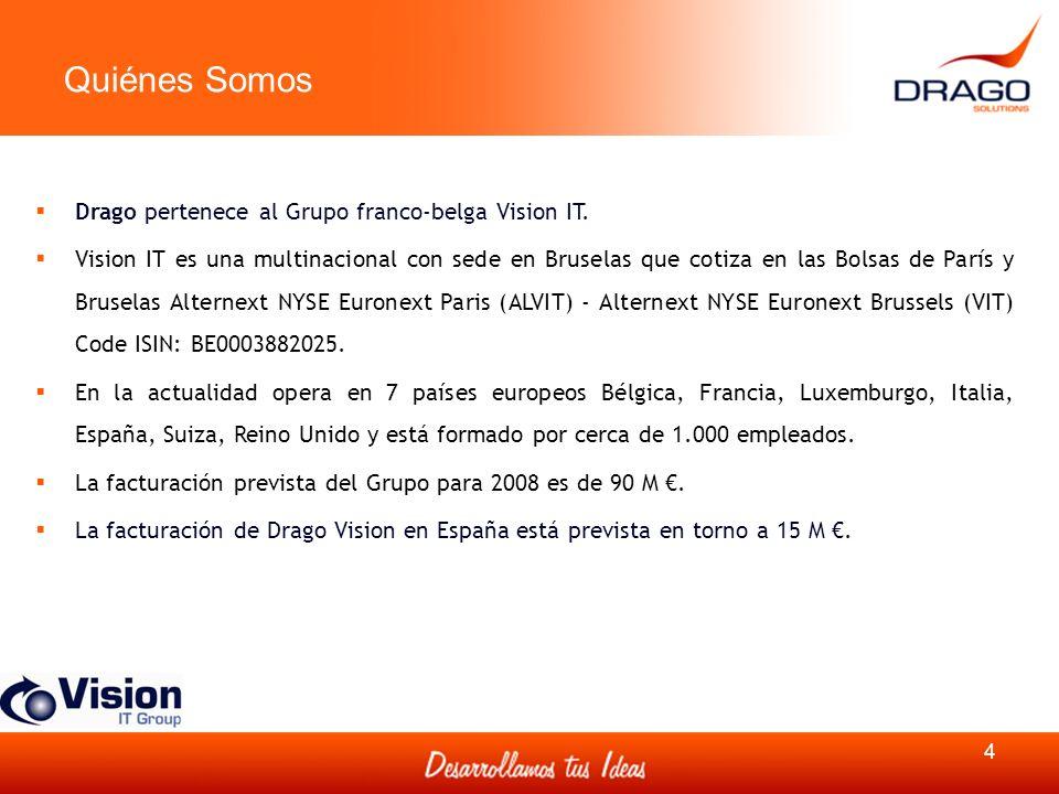 Quiénes Somos Drago pertenece al Grupo franco-belga Vision IT.