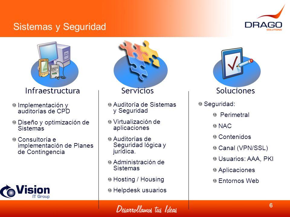 Sistemas y Seguridad Infraestructura Servicios Soluciones Seguridad: