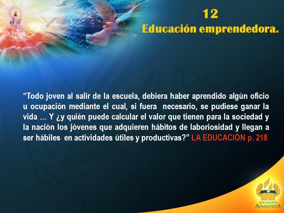 12 Educación emprendedora.