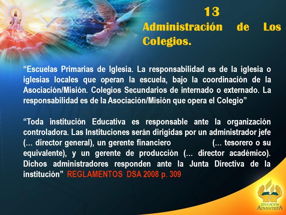 13 Administración de Los Colegios.