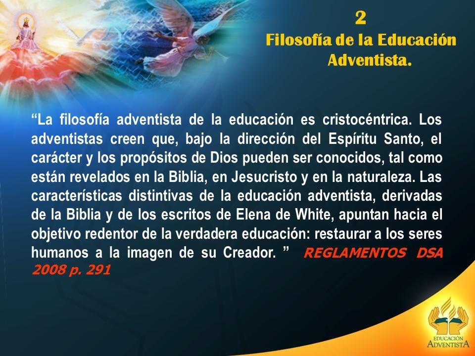 Filosofía de la Educación Adventista.