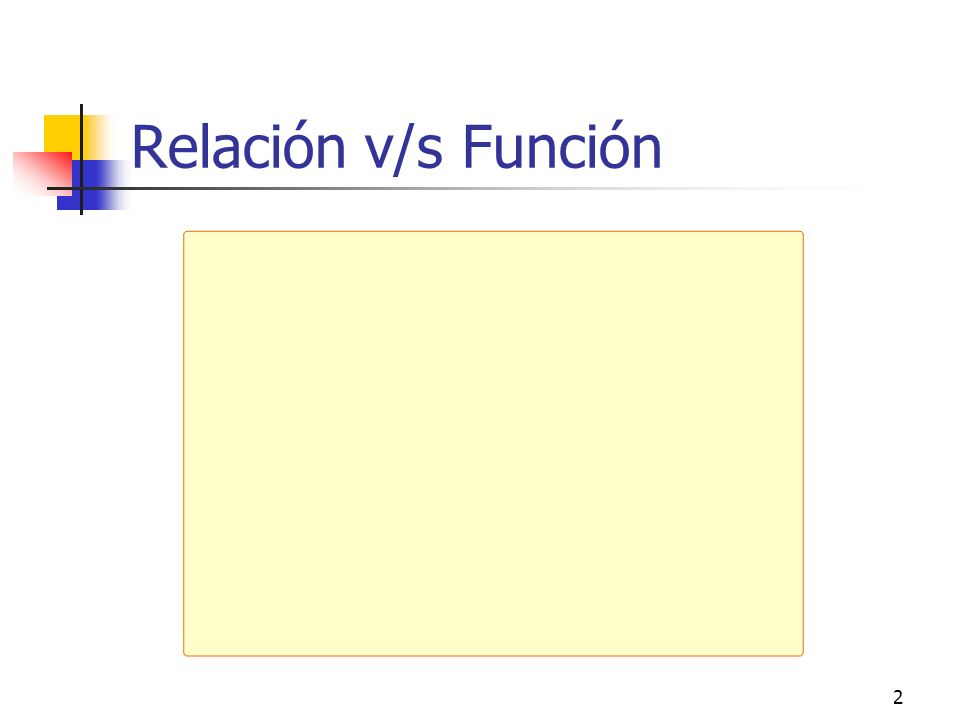 Relación v/s Función