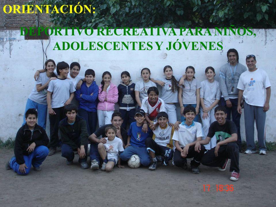DEPORTIVO RECREATIVA PARA NIÑOS, ADOLESCENTES Y JÓVENES