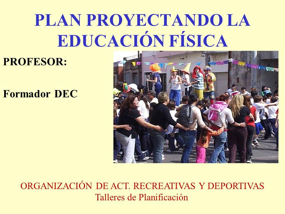 PLAN PROYECTANDO LA EDUCACIÓN FÍSICA