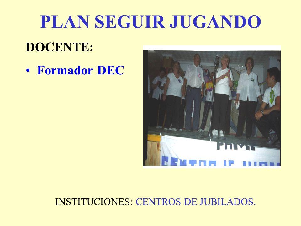 INSTITUCIONES: CENTROS DE JUBILADOS.