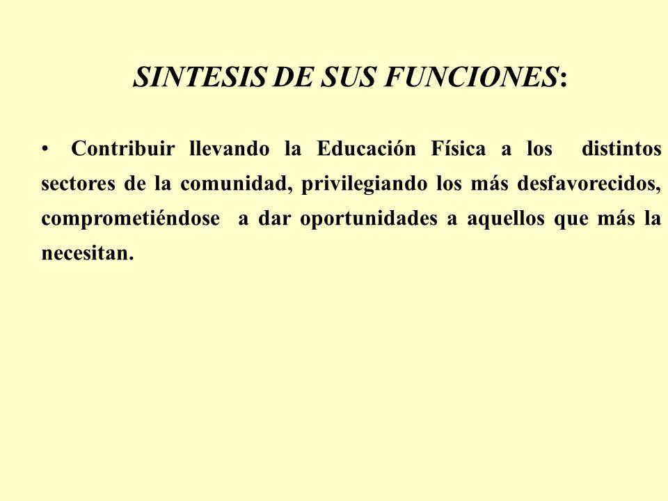 SINTESIS DE SUS FUNCIONES: