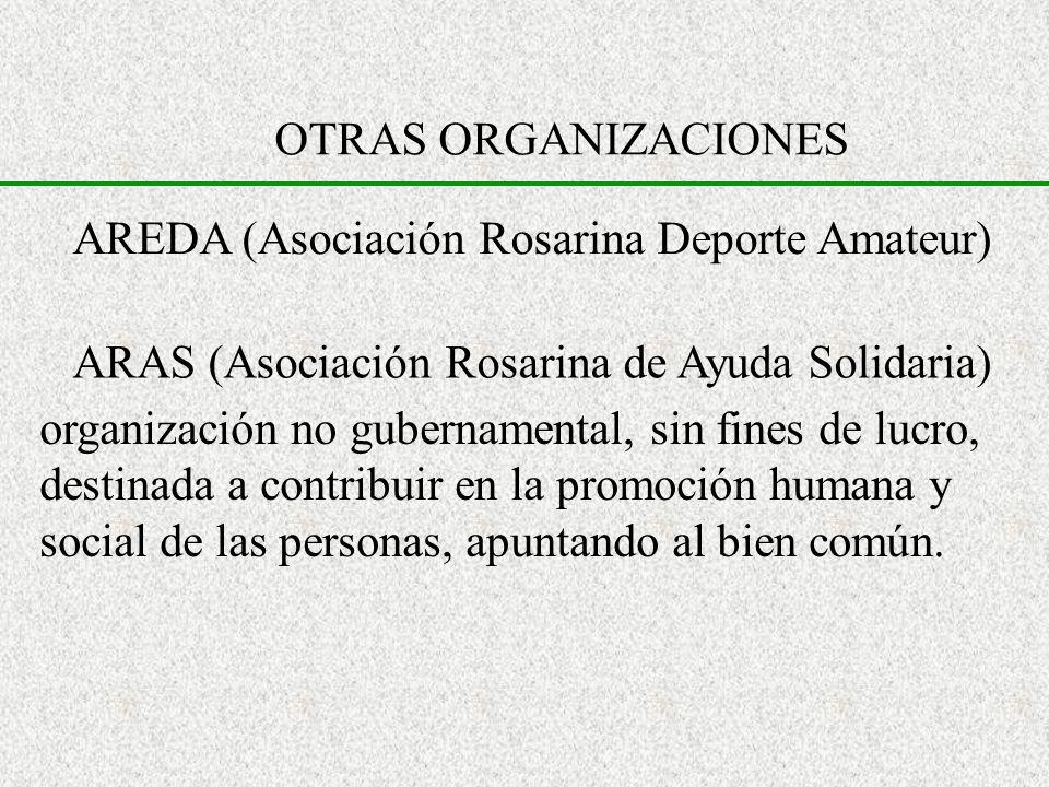 OTRAS ORGANIZACIONESAREDA (Asociación Rosarina Deporte Amateur) ARAS (Asociación Rosarina de Ayuda Solidaria)
