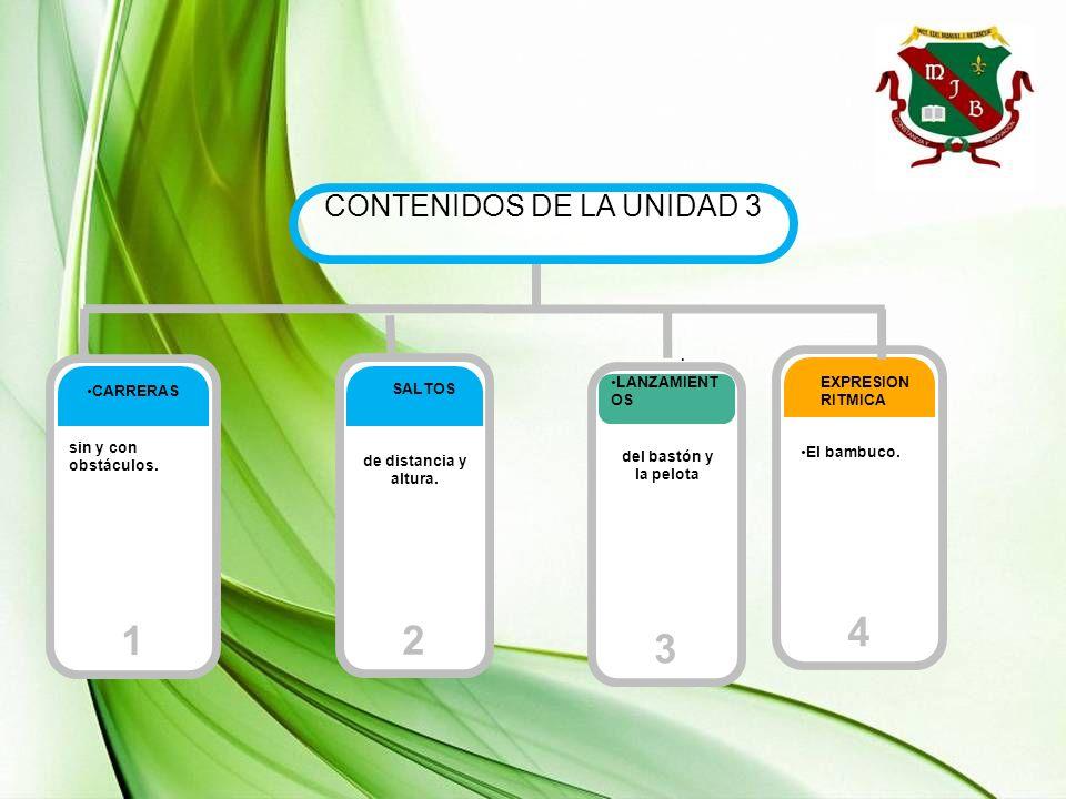 CONTENIDOS DE LA UNIDAD 3