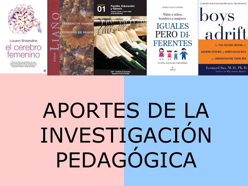 APORTES DE LA INVESTIGACIÓN PEDAGÓGICA
