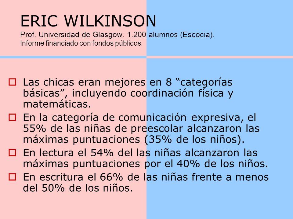 ERIC WILKINSON Prof. Universidad de Glasgow. 1. 200 alumnos (Escocia)