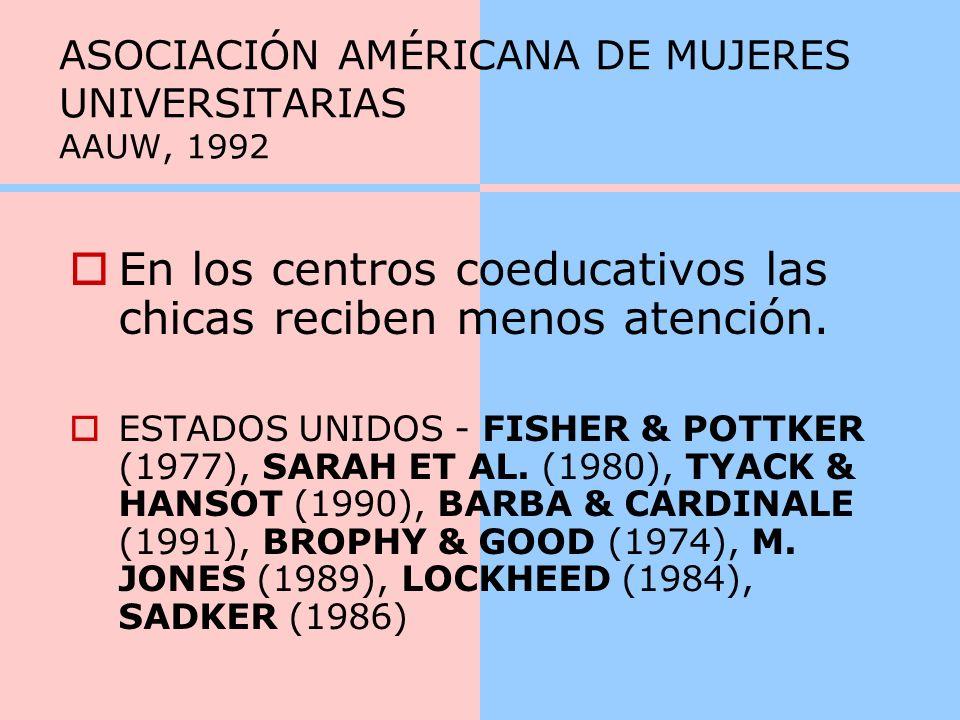 ASOCIACIÓN AMÉRICANA DE MUJERES UNIVERSITARIAS AAUW, 1992