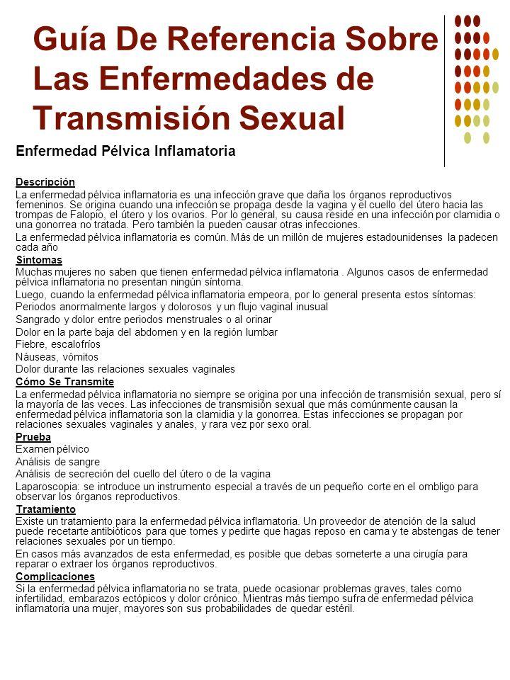Guía De Referencia Sobre Las Enfermedades de Transmisión Sexual