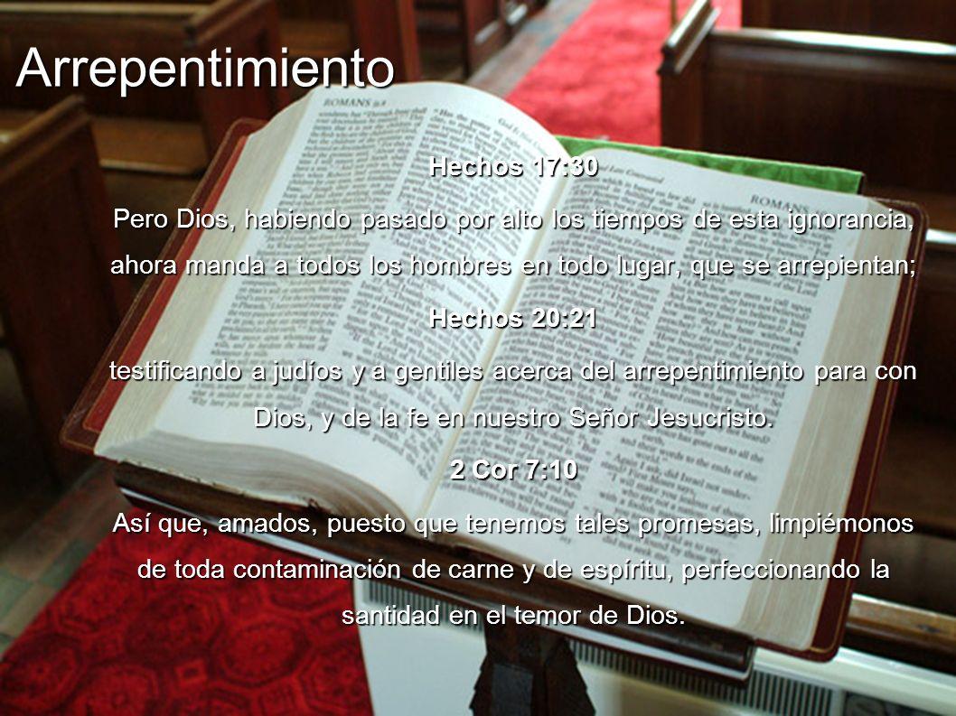 Arrepentimiento Hechos 17:30