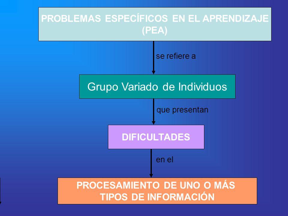PROBLEMAS ESPECÍFICOS EN EL APRENDIZAJE PROCESAMIENTO DE UNO O MÁS