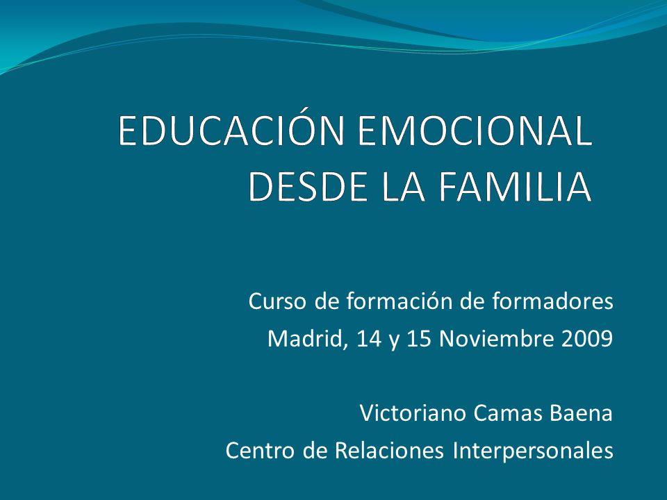 EDUCACIÓN EMOCIONAL DESDE LA FAMILIA