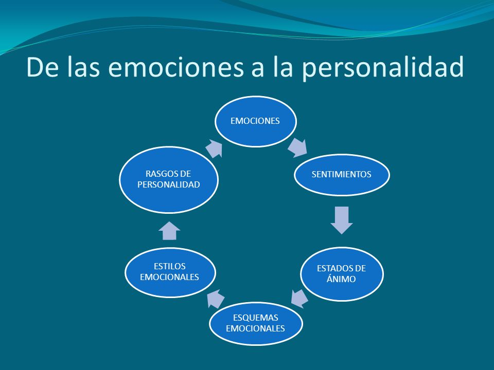 De las emociones a la personalidad