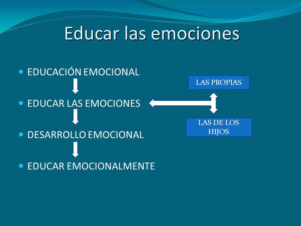 Educar las emociones EDUCACIÓN EMOCIONAL EDUCAR LAS EMOCIONES