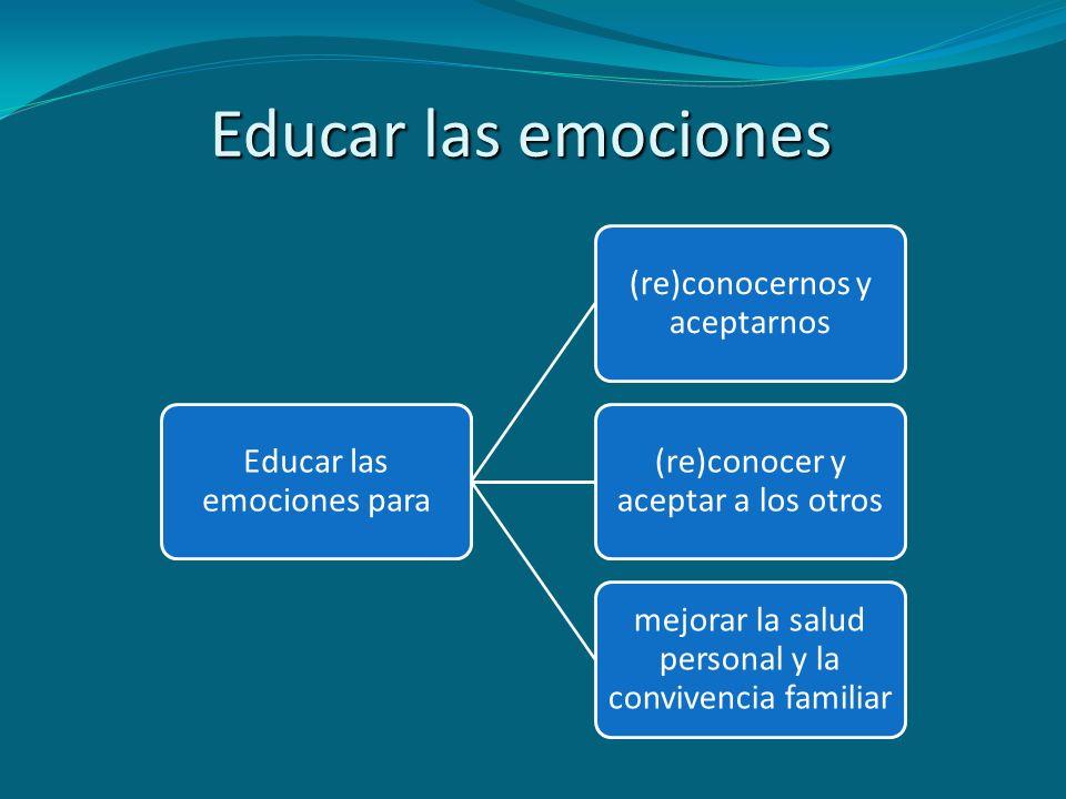 Educar las emociones Educar las emociones para