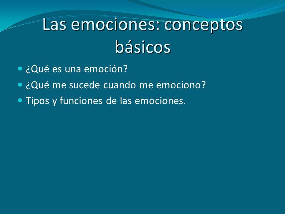 Las emociones: conceptos básicos