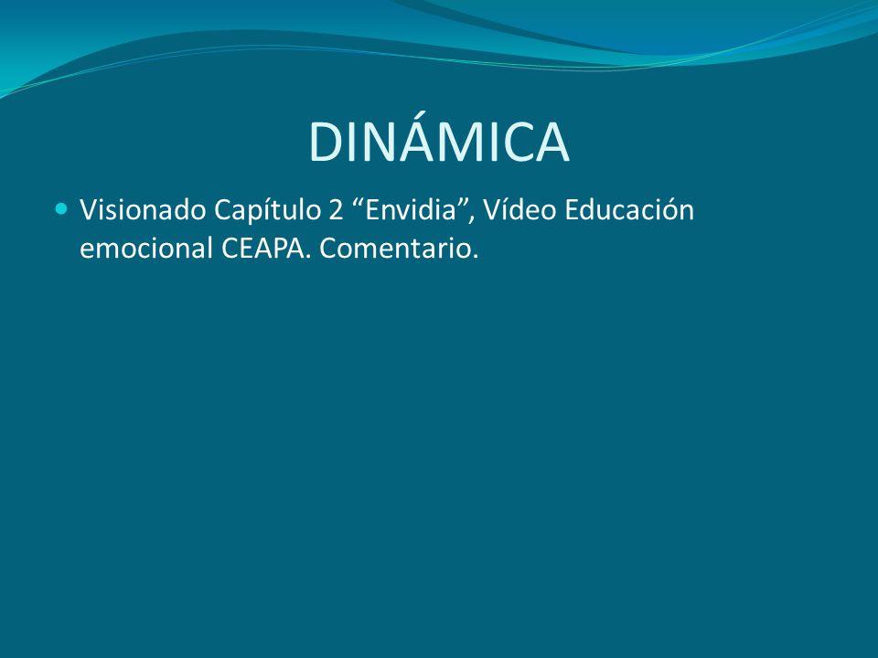 DINÁMICA Visionado Capítulo 2 Envidia , Vídeo Educación emocional CEAPA. Comentario.