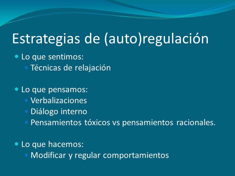 Estrategias de (auto)regulación