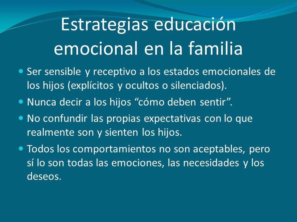 Estrategias educación emocional en la familia
