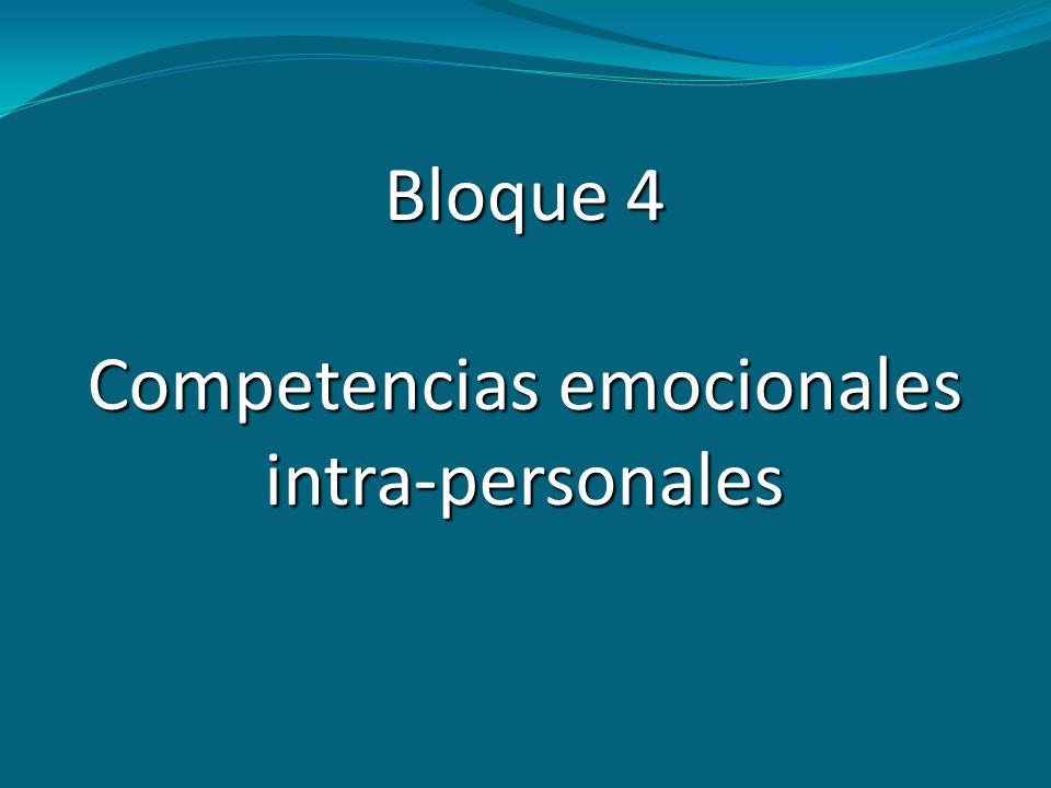 Competencias emocionales intra-personales