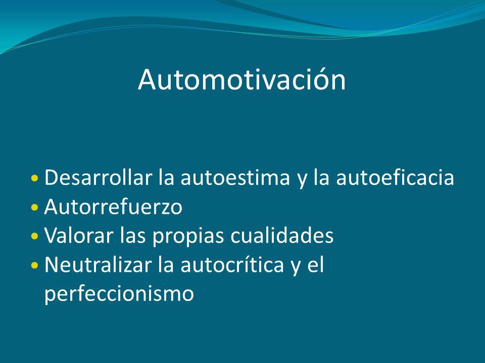Automotivación Desarrollar la autoestima y la autoeficacia