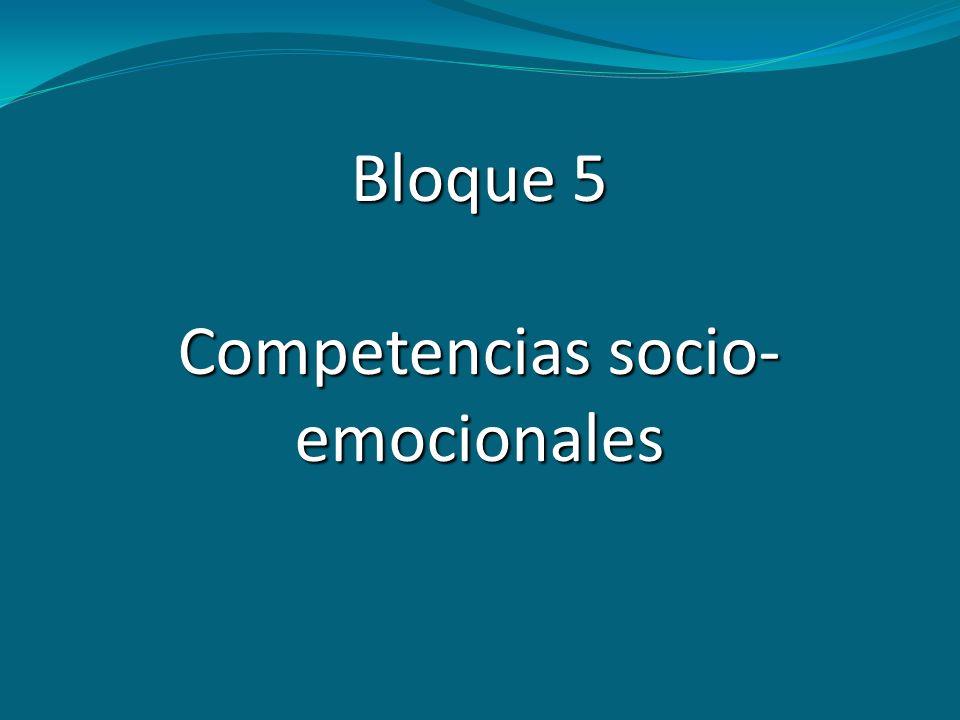 Competencias socio-emocionales