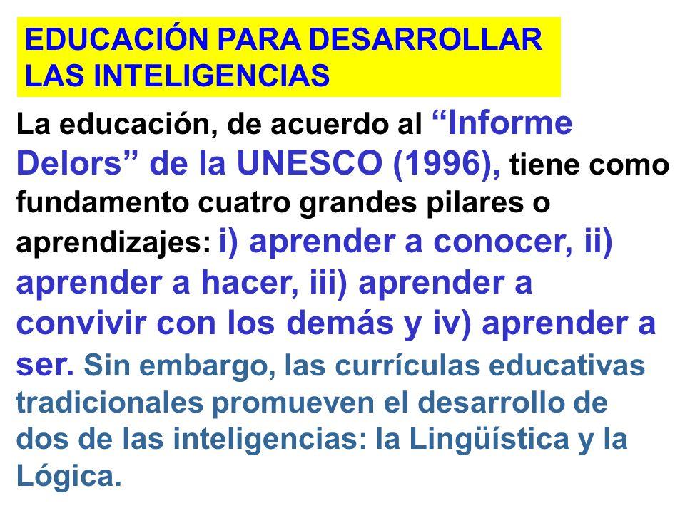 EDUCACIÓN PARA DESARROLLAR
