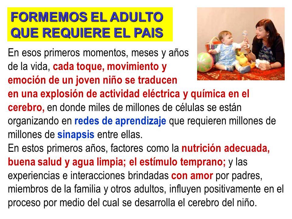 FORMEMOS EL ADULTO QUE REQUIERE EL PAIS