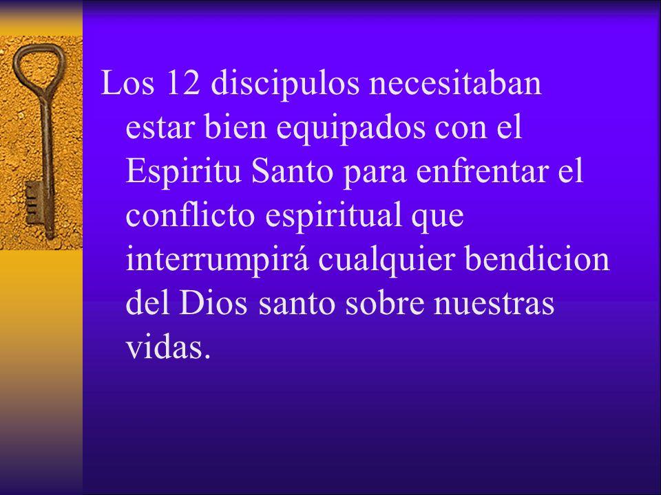 Los 12 discipulos necesitaban estar bien equipados con el Espiritu Santo para enfrentar el conflicto espiritual que interrumpirá cualquier bendicion del Dios santo sobre nuestras vidas.