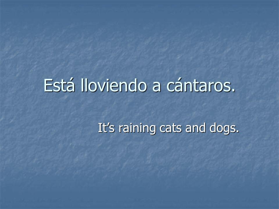 Está lloviendo a cántaros.