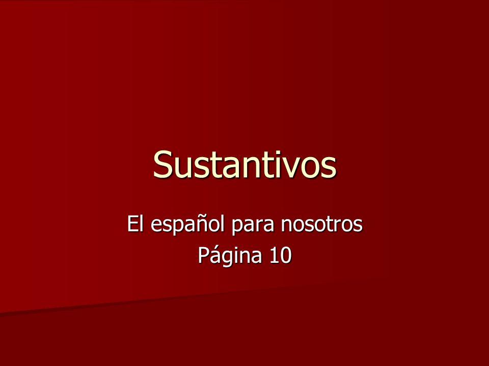 El español para nosotros Página 10