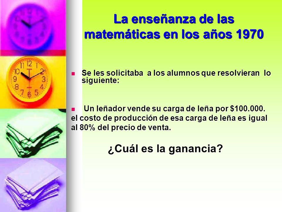 La enseñanza de las matemáticas en los años 1970